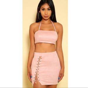Lace up 2 piece set